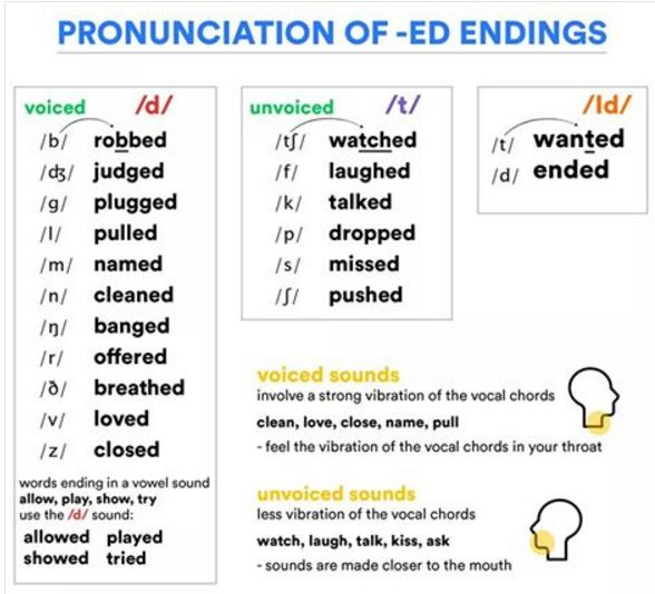 Pronunciation for IELTS – past tenses – Succeed In IELTS
