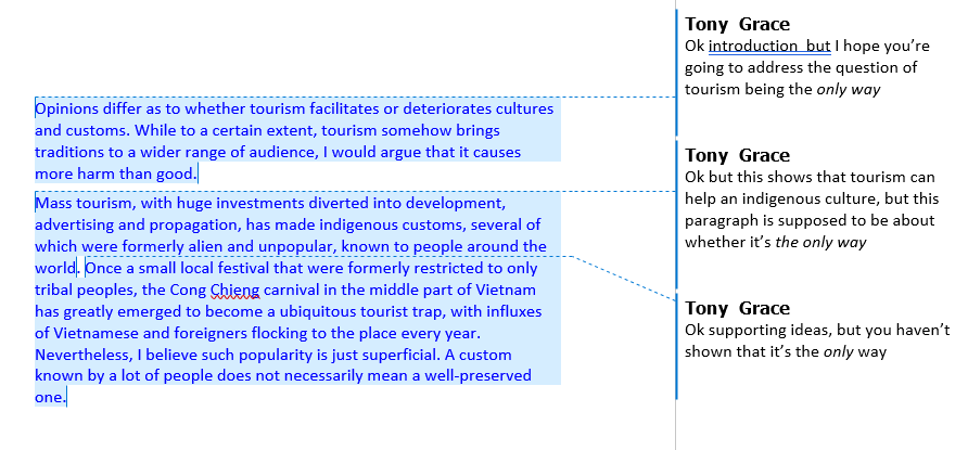 IELTS Writing Task 2 Tourism answer 1