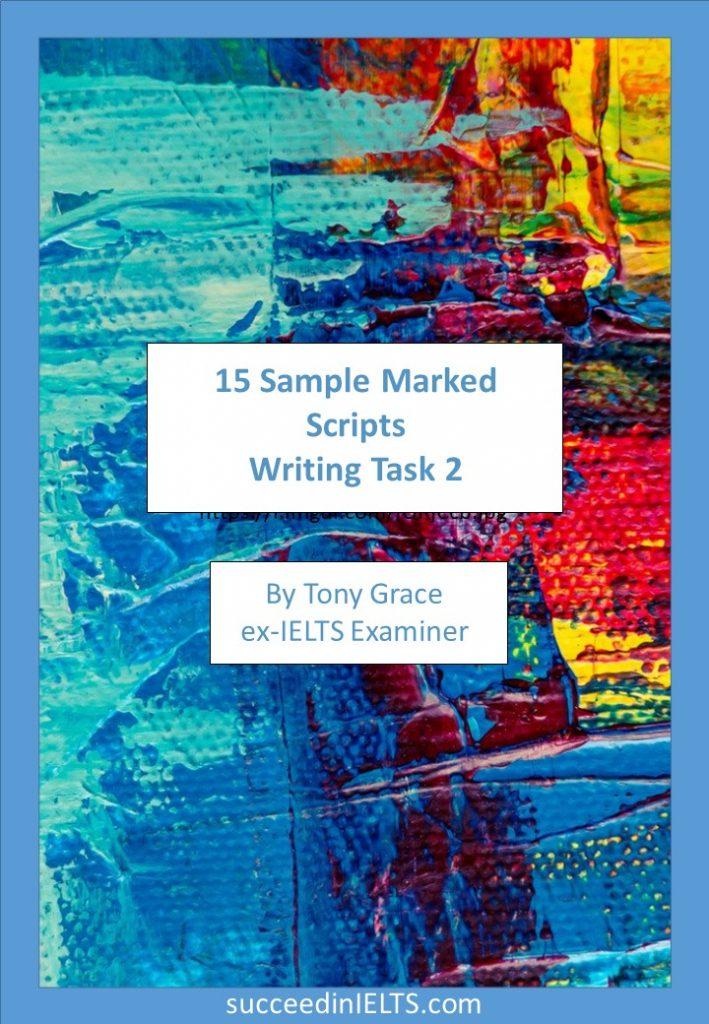 IELTS writing task 2 Sample scripts