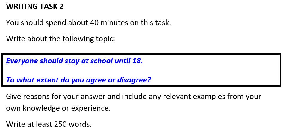 Compulsory education to 18 Q